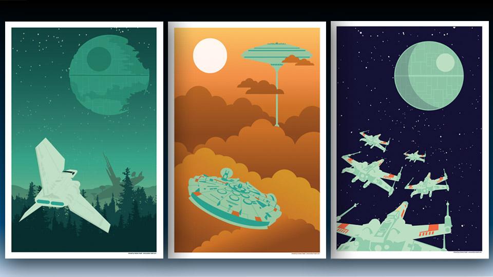 Star Wars Starships Flying Artwork