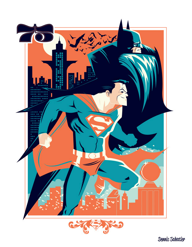 World's Finest 75 Superman/Batman Print