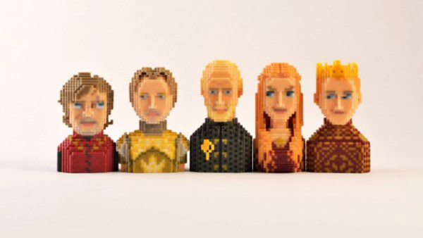 Game of Thrones Characters as 3D Pixel Art