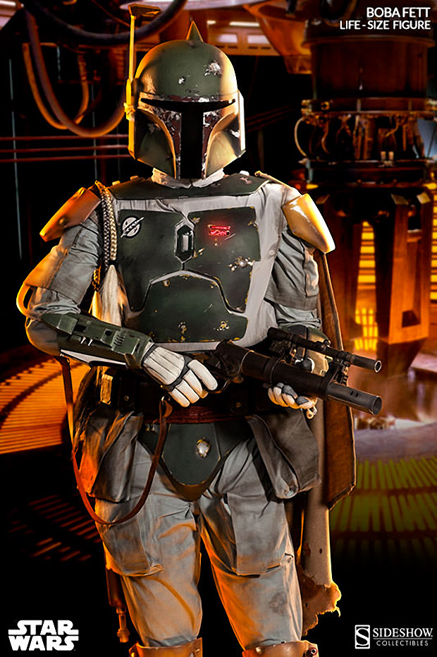 Life-Size Boba Fett Collectible Figure