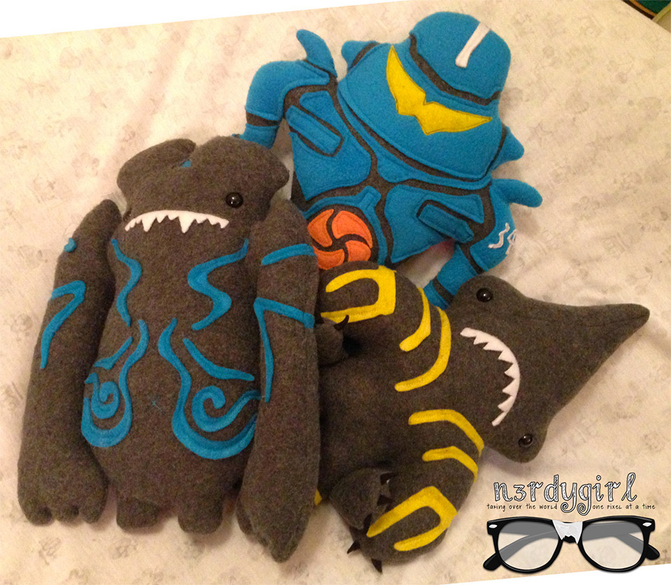 Handmade Pacific Rim Plushies from Etsy