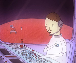Phone Home: An Astronaut Calls Home from Mars