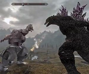 Godzilla vs. Mechagodzilla: Skyrim Style