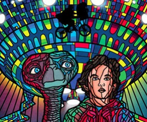 Limited Edition Sci-Fi Stained Glass Movie Posters