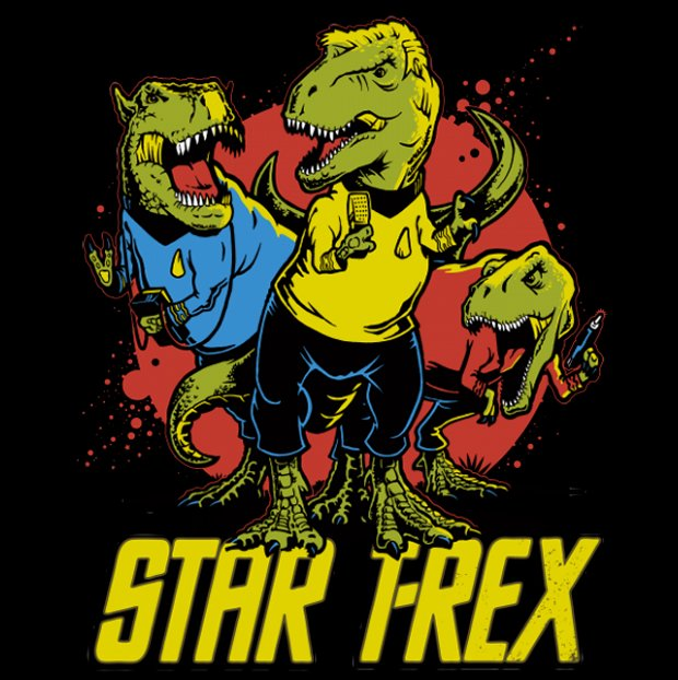 Awesome Star T-Rex T-Shirt