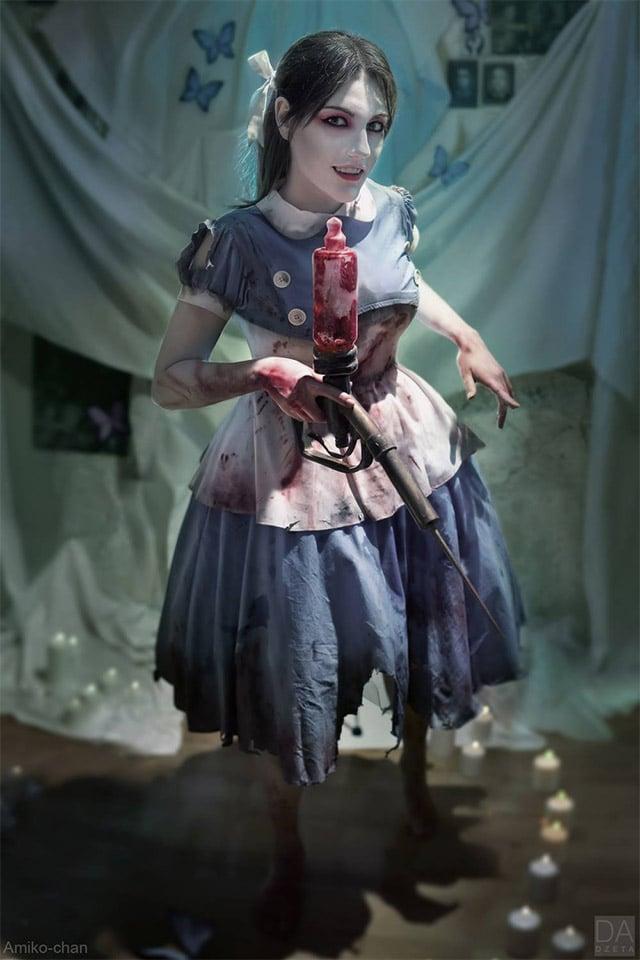 Disturbing Bioshock Little Sister Cosplay - MightyMega  Bioshock