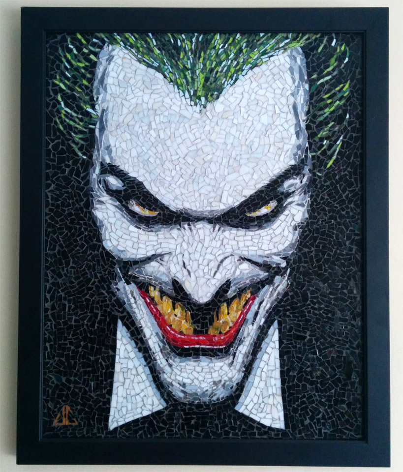 Batman: The Joker Handmade Mosaic Art