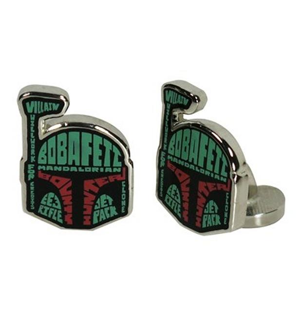 Star Wars Boba Fett Typography Cufflinks