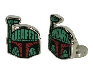 Star Wars Boba Fett Typography Cufflinks