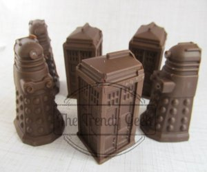 Doctor Who Chocolate TARDIS and Daleks