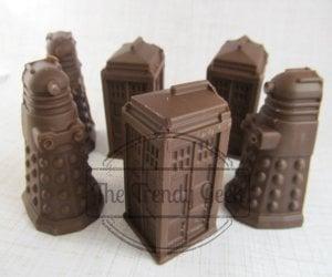 Doctor Who Chocolate TARDIS and Daleks