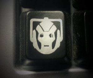 Doctor Who Cyberman DELETE key Decal 4 Pack