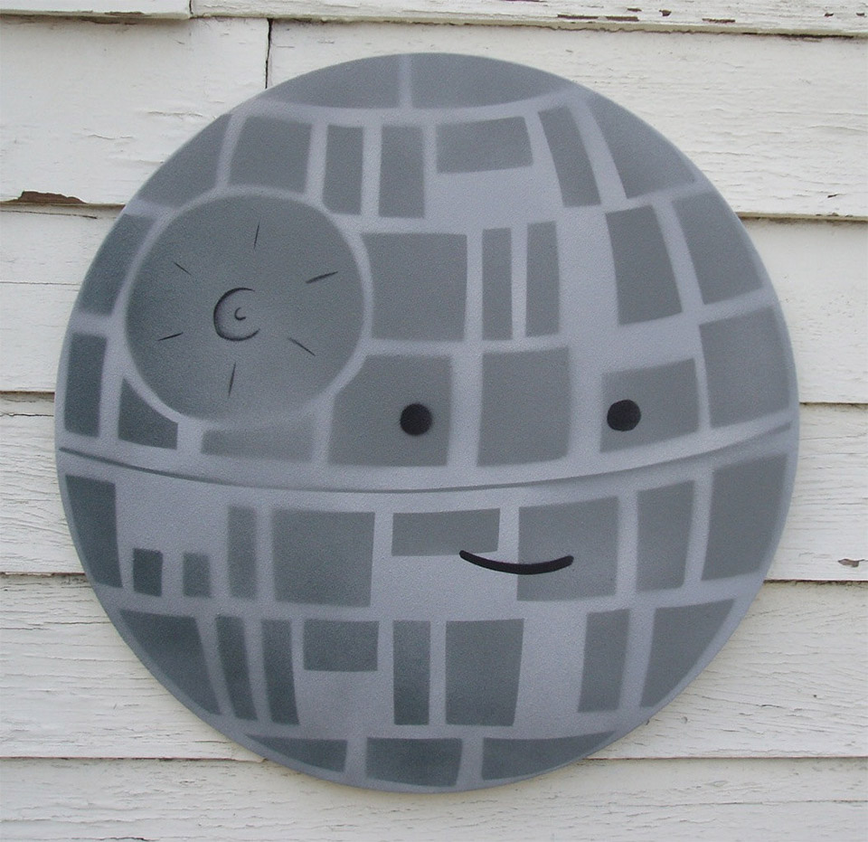 Happy Deathstar Painting By Dan Goodsell