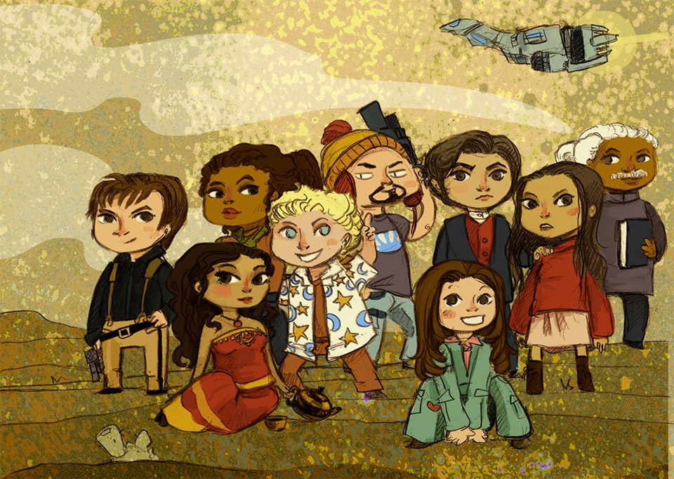 Firefly: Space Cowboys Illustration