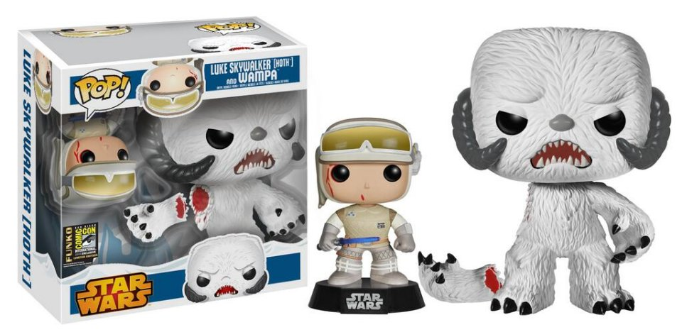 Funko Luke Skywalker Hoth And Wampa POP! Set