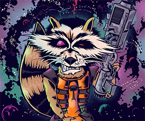 Guardians of the Galaxy: Awesome Rocket Raccoon Art