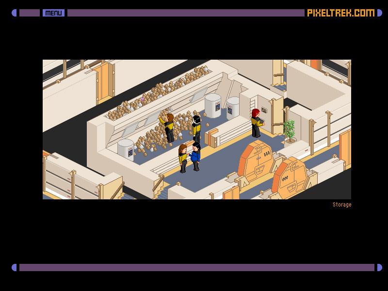 Pixel Trek: Pixel Art + Star Trek Interactive Game