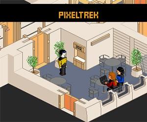 Pixel Trek: Pixel Art + Star Trek Interactive Game