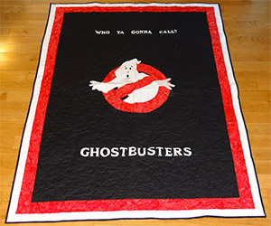 Who Ya Gonna Cuddle? Ghostbusters Glow-in-the-Dark Quilts