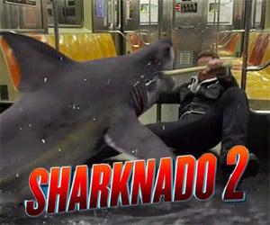 Sharks on a Train: Sharknado 2 Sneak Peek