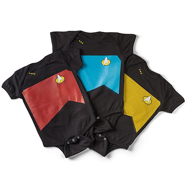 Star Trek TNG Uniforms for Babies