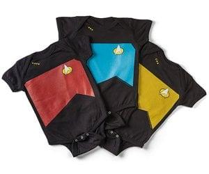 Star Trek TNG Uniforms for Babies