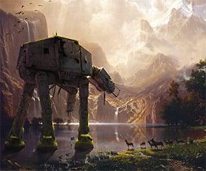 Kaiju and Giant Creatures Landscape Art