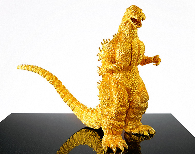$1.5 Million Gold 60th Anniversary Godzilla Figure