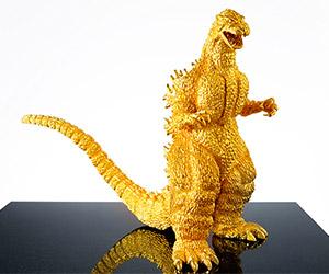 $1.5 Million Gold 60th Anniversary Godzilla Figure