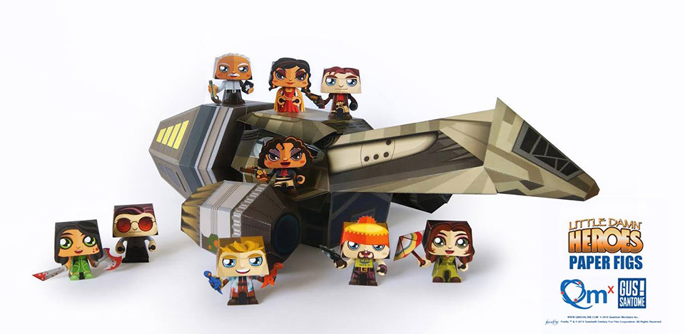 QMx Free Papercraft Serenity and Firefly Cast