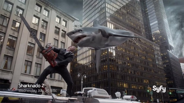 Sharknado 2: The Second One, Awesome New Trailer - MightyMega
