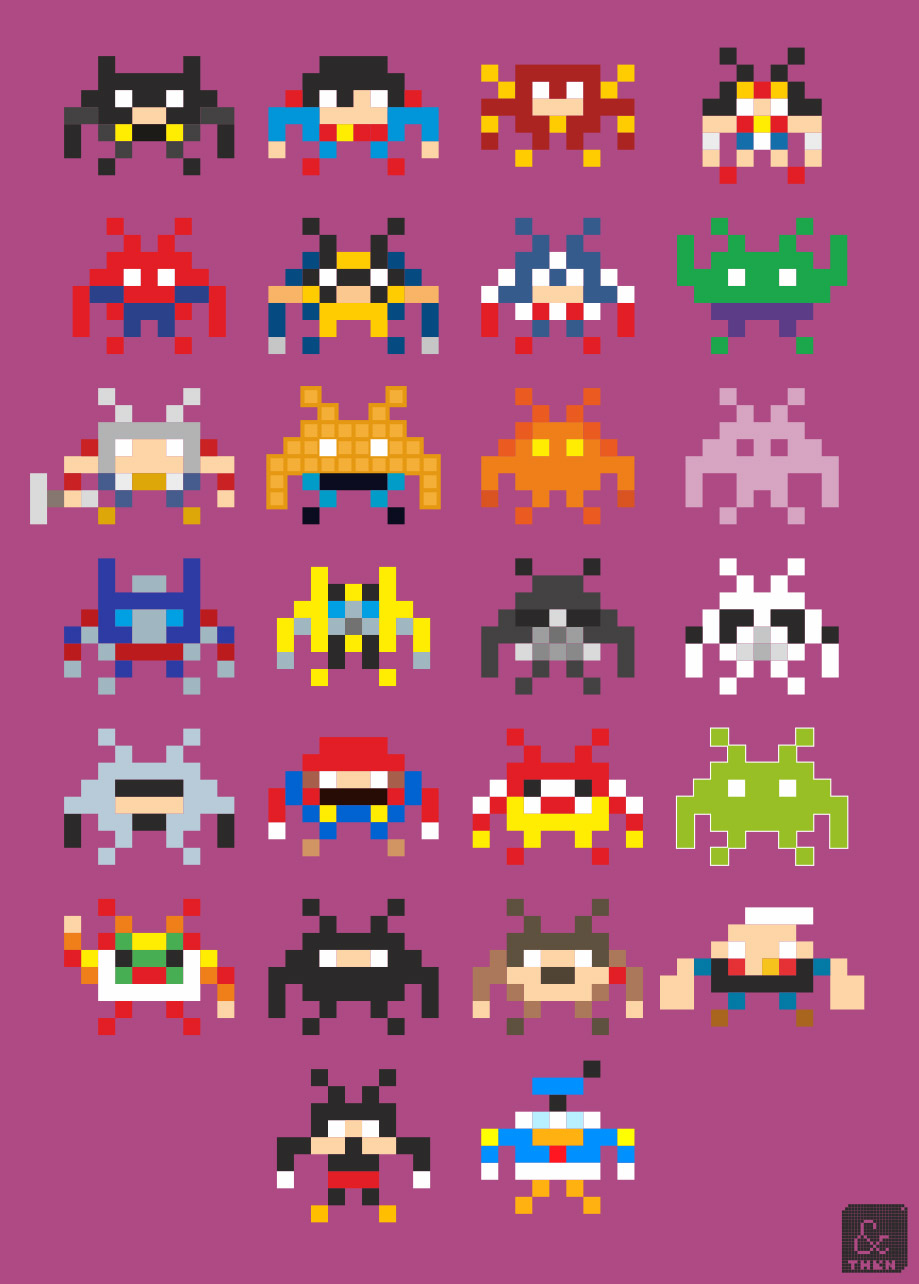 Space Invaders Pop Culture Icons
