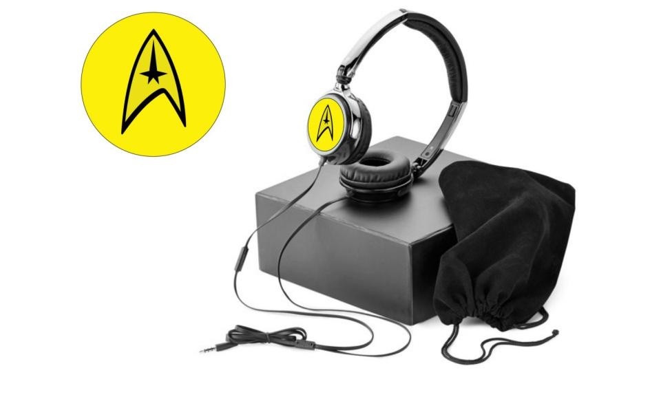 Star Trek Yellow Command Headphones