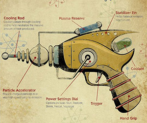 Space Age Steampunk Poster Art