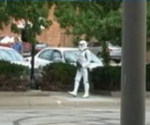 Guy Cosplays As A Stormtrooper, Street Gets Put On Lockdown