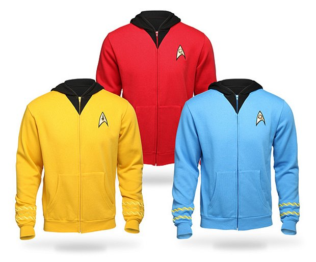 Star Trek TOS Uniform Hoodies Are Coming