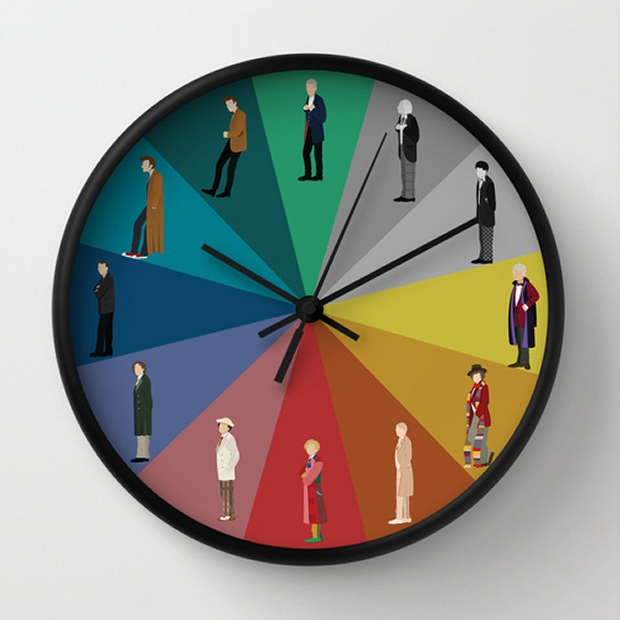 Doctor Who Clock Has a Doctor for Every Hour