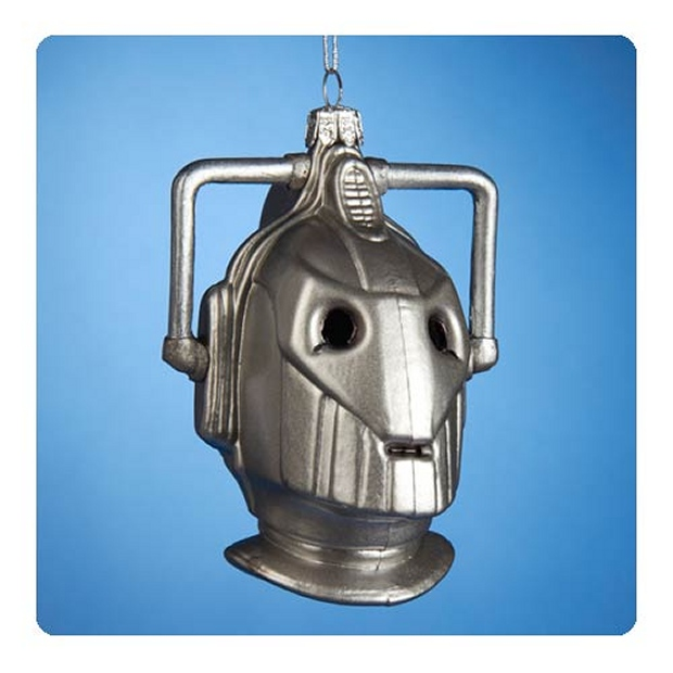 Doctor Who Cyberman Head Christmas Ornament
