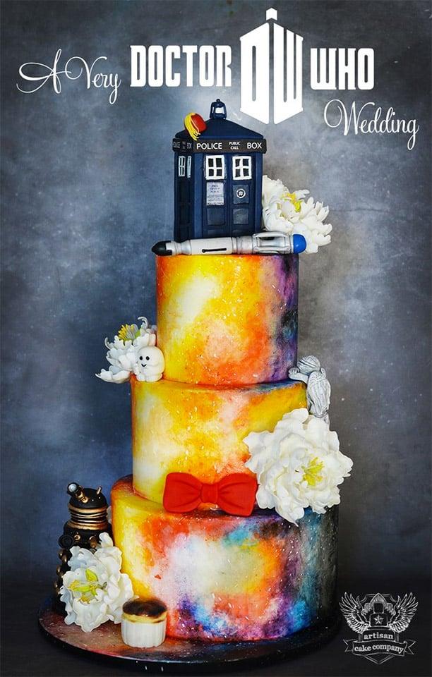 Awesome Doctor Who Wedding Cake