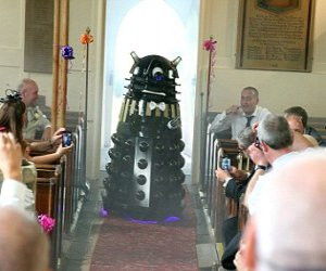 Couple Renews Vows with Dalek as Best Man