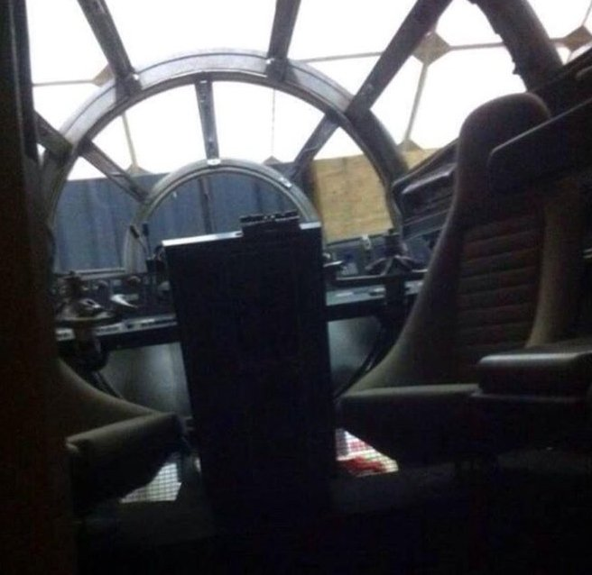 Leaked Star Wars VII Pics: Inside the Millennium Falcon