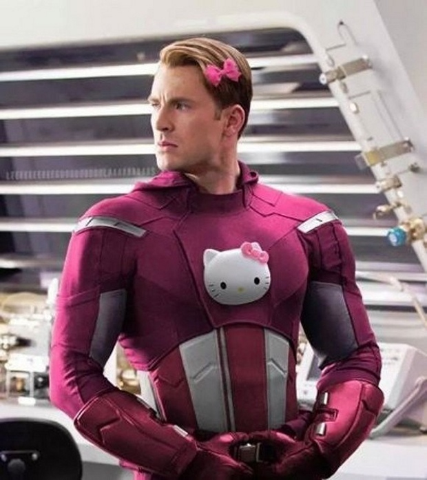The Avengers in Hello Kitty Costumes