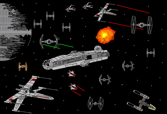 Star Wars Scenes Created in Microsoft Paintbrush