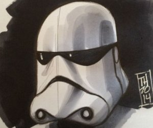 Star Wars: Episode VII Stormtrooper Artist Sketch