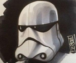 Star Wars: Episode VII Stormtrooper Artist Sketch