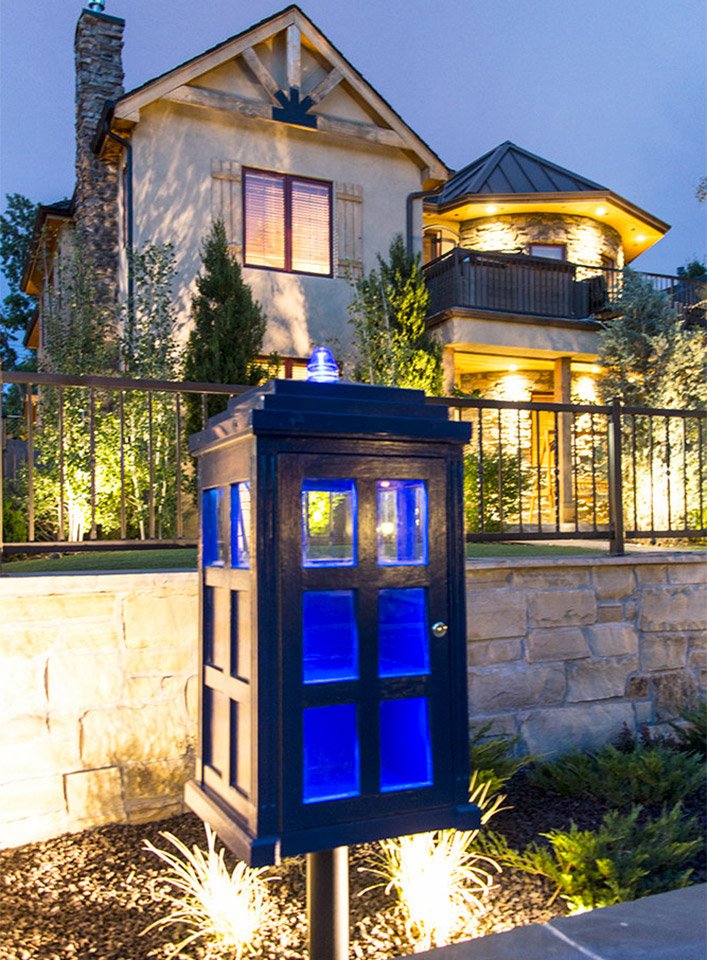 The TARDIS Little Free Library