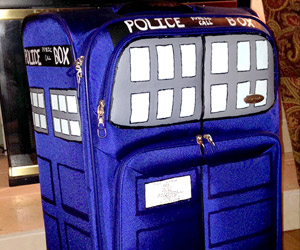 TARDIS Suitcase for Travelling through Time and Space