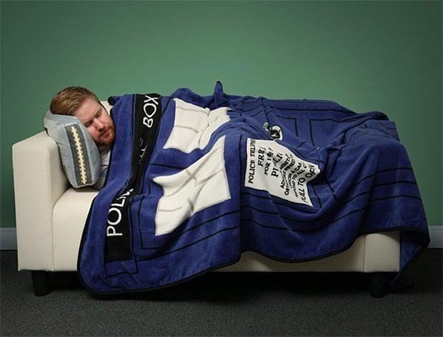 TARDIS Throw Blanket: Warmer on the Inside