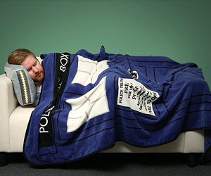 TARDIS Throw Blanket: Warmer on the Inside