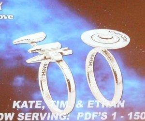 Star Trek Enterprise Rings with Saucer Separation